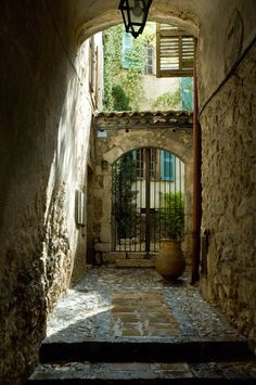 A doorway in the village of St. Paul de Vence.