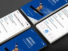 Creative Snowboard Coach Instructor Business Card Templates
