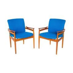 Model 192 Armchairs by Finn Juhl for France & Son