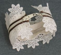Zipper and Lace Bracelet