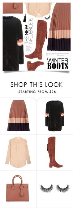 """""""So Cozy: Winter Boots"""" by marina-volaric ❤ liked on Polyvore featuring Miss Selfridge, Shrimps, Equipment, Geox, Yves Saint Laurent, Illamasqua and winterboots"""
