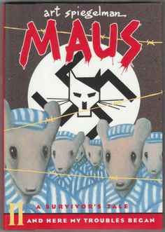 Maus II: A Survivor's Tale, And Here My Troubles Began by Art Spiegelman. Hardback with Dust Jacket, As New, First Hardback Edition, Sixth Printing, 1991, Pantheon Books, size 6 1/2 x 9 3/8 inches, 136 pages plus endpapers, O/P edition. $22