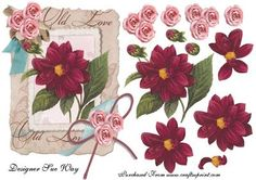 Vintage Flowers Topper with Decoupage
