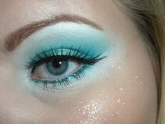 mermaid eye makeup. Simple enough to do for little girls!