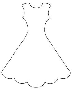 wedding dress pattern use the printable outline for crafts