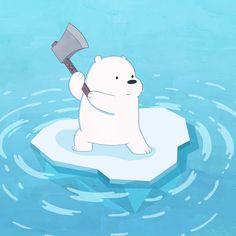 Ice Bear was little.but fierce ⛏️💪👶 Happy Cartoon, Bear Cartoon, Cartoon Icons, Cartoon Network Bears, Bear Wallpaper, Kawaii Wallpaper, Disney Wallpaper, Ice Bear We Bare Bears, We Bear