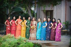 #BridesMaids #bridesmaidsdresses #Beautiful #Bollywood #Style #Indian #wedding #bride #marriage #shadi #india #RED #dulhan #pink