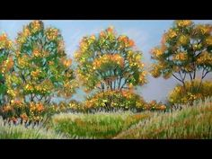 How to paint autumn landscape with Pastel - Fall Color (Pastel Painting) - YouTube