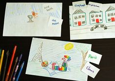 Drawing Game for Kids: Pick an Object, Pick a Scene - Make and Takes