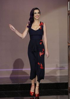 Katy Perry in Roland Mouret, The Tonight Show with Jay Leno