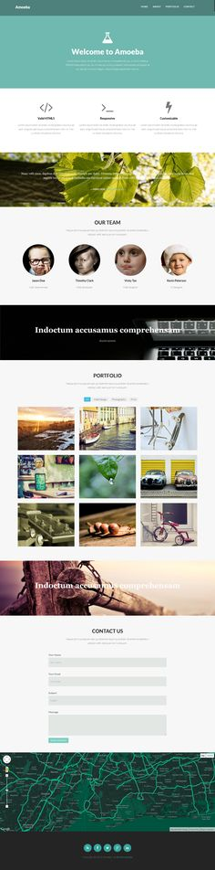 Amoeba – Free One Page Bootstrap Template #onepagetemplate #freebie #bootstraptemplate