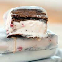 Brownie Ice Cream Sandwiches from Rachael Ray