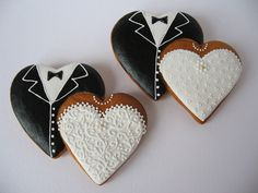 Tux and lace Flower Sugar Cookies, Owl Cookies, Iced Sugar Cookies, Sugar Cookie Icing, Cake Icing, Cut Out Cookies, Royal Icing Cookies, Fondant Cakes, Bride Cupcakes