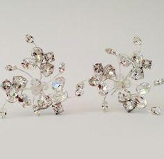 Erin Cole   Hairpins, wedding hairpins, sparkly, hairstyles, bride hair accessories