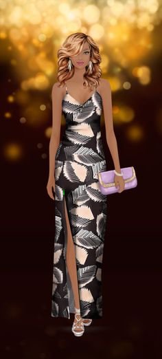 Look styled in Covet Fashion Covet Fashion Games, Diva Fashion, Party Fashion, Fashion Dolls, Fashion Art, Fashion Outfits, Womens Fashion, Fashion Design, Fashion Sketches
