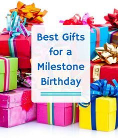 Celebrating a milestone birthday requires a special gift! But where to start? Have our personal shoppers find the perfect gift - for free! You'll receive personalized gift recommendations within a few hours that are backed by a best price guarantee.