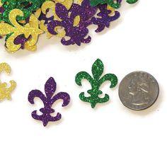 Fleur de Lis confetti Mardi Gras Decorations New Orleans