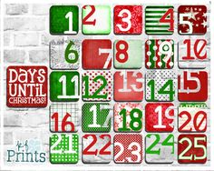 This adorable Christmas advent calendar is a simple, classy, and fun way to countdown to Christmas morning! Add events to the back, or add magnets and a cute frame and stick it to your refrigerator to display with the rest of your holiday decor! These red and white decorations are a great way to celebrate the 25 days of Christmas while also making your home more festive!  -Technical Details- Each piece in this calendar is 2x2 with the exception of the Days Until card which is 2.5x2.5, They…