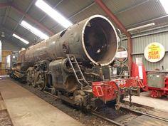 Class Ka945 built at Hutt in 1939 undergoing restoration at Steam Incororated, Paekariki New Zealand 2016