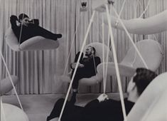 verner panton flying chairs: i can't quite hear you love