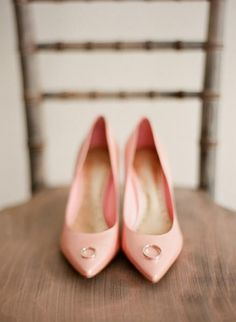 Perfect #Blush shoes for the bride to match her girls! #wedding
