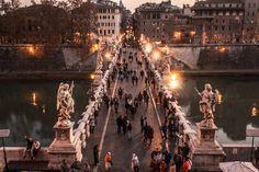 9 cosas que hacer en Roma en Nochevieja y Navidades - Ponte Sant'Angelo, un lugar especial para ver los fuegos artificiales