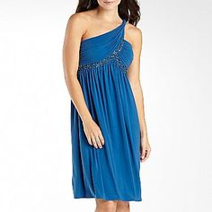 Grecian One-Shoulder Beaded Bridesmaid Dress - jcpenney