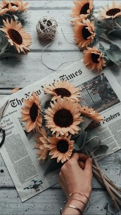 ▷ swag image ideas to use as desktop wallpaper- ▷ 1001 + idées d'image swag à utiliser comme fond d'écran cool Orange flowers, sunflowers in a bouquet on a newspaper, photo of girl swag, to have confidence in oneself - Aesthetic Backgrounds, Aesthetic Iphone Wallpaper, Aesthetic Wallpapers, Floral Wallpaper Iphone, Funny Iphone Wallpaper, Wallpaper Lockscreen, Image Swag, Wallpaper Collection, Fleur Orange