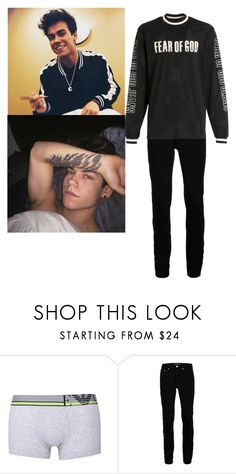 """""""Zayn had glanced down at his new tattoo before..."""" by simply-southern-anons ❤ liked on Polyvore featuring Topman, Fear of God, men's fashion and menswear"""