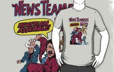 News Team Assemble! tees shirt by nik holmes