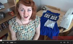 A great tutorial video on making your own Dr. Who Tardis dress!