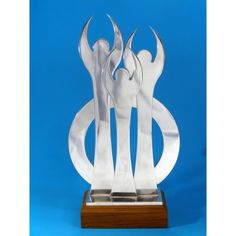 Lovely solid trophy made from aluminium on a wood base. Perfect for an employee or team award! Trophies And Medals, Sports Awards, Some Ideas, Base, Wood, Madeira, Woodwind Instrument, Wood Planks, Trees