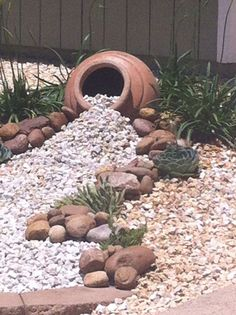 Low maintenance landscaping project - amazing modern rock garden ideas for . Low maintenance landscaping project - Amazing modern rock garden ideas for back yard - construction proje. Landscaping With Rocks, Backyard Landscaping, Landscaping Design, Florida Landscaping, Decorative Rock Landscaping, Rocks In Landscaping, Sloped Backyard, Sloped Garden, Tropical Landscaping