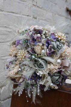 Vintage Brooch Bouquet by VBrideBoutique on Etsy, £180.00