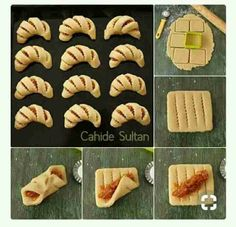 56 Gorgeous from Each Other of Homemade Pastries, Easy Food Decorations - Delicious Food Kids Pastry Recipes, Cookie Recipes, Dessert Recipes, Bread Recipes, Bread Shaping, Homemade Pastries, Bread And Pastries, Snacks, Creative Food