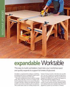 Plywood Cutting Table Plans - Circular Saw Workshop Solutions