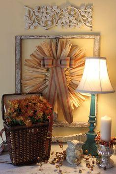 Easy cornhusk wreath