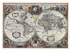 Antique Map Art Prints at AllPosters.com