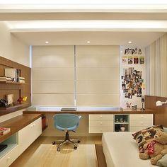 💡Inspiração: Home Office/ Quarto de visitas! Mais uma inspiração linda para o segundo quarto, eu amei!