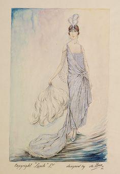 Evening dress design, Jules de Ban (for Lucile), 1923; VAM E.2939-1962