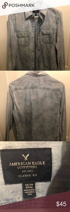 a926357f007 SUPER SALE!! American Eagle Jean shirt! Adorable button down Jean shirt!  Classic