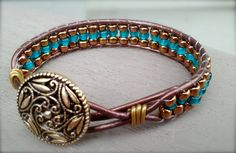For sale: $40 Dizzy Bees, found on facebook! Leather wrap bracelet