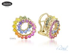 Rainbow sapphire earrings...so beautiful! I've developed something of an obsession.