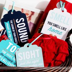 DIY Gift Basket 5 Senses Surprise Ideas and Fun Printable Tags that are PERFECT for any occasion!