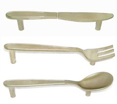 Cutlery handles. For cupboards and drawer's in the kitchen.