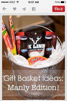 Gift basket for papa