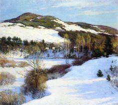 Hush of Winter - Willard Metcalf -