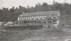 The Accomac Inn found in Hellam Township, shown in this early 1900s photograph, has been serving guests for over 200 years. Here the inn features an advertising sign on its roof.