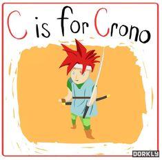 Dorkly posted the whole Chrono Trigger alphabet.