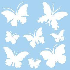 hobbyartikelen > sjablonen sjabloon vlinders 30x30cm